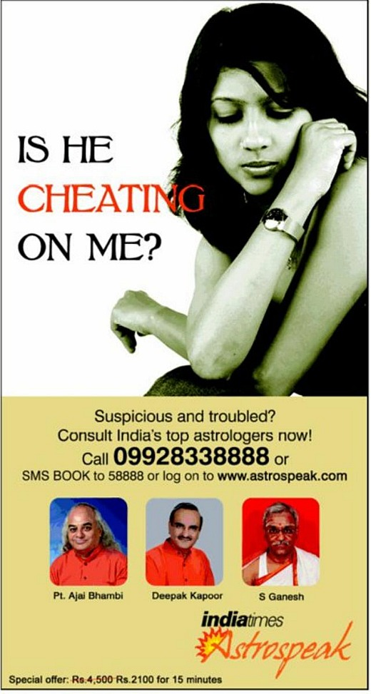 publicite indian cheating
