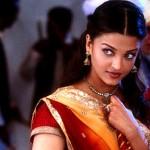 Aishwarya avec un magnifique sari