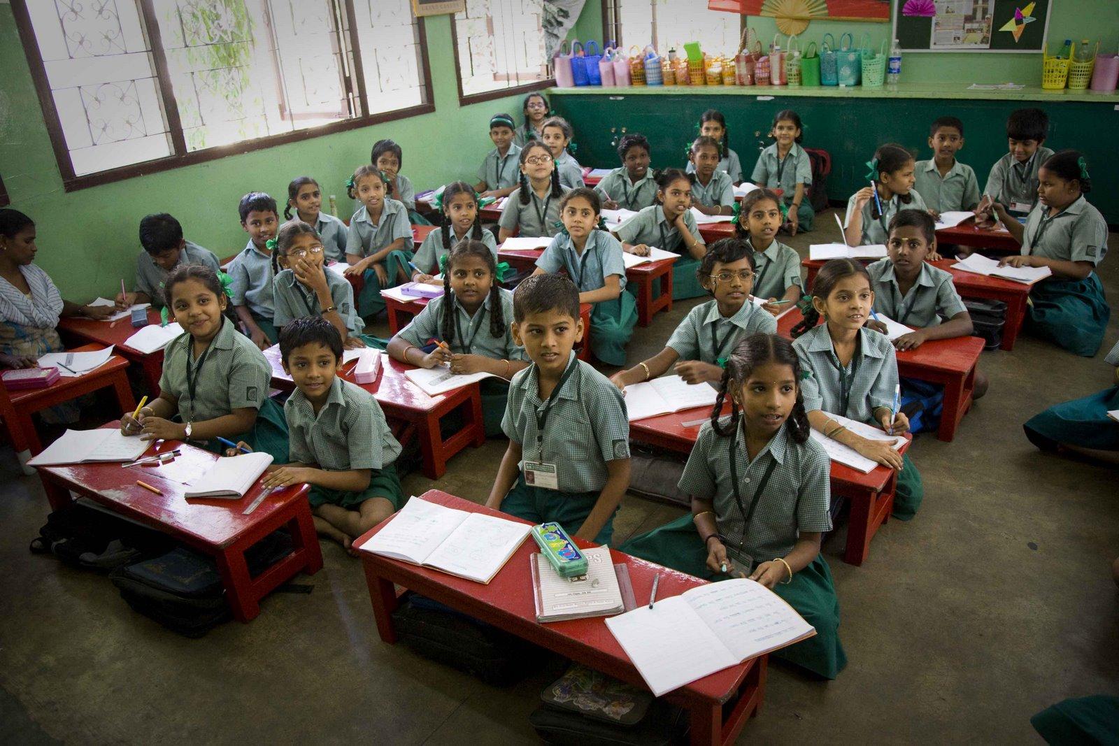 Education en Inde - une classe