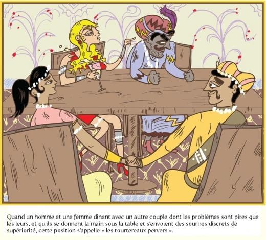 les tourtereaux pervers 520x470 Le Kama Sutra des gens mariés